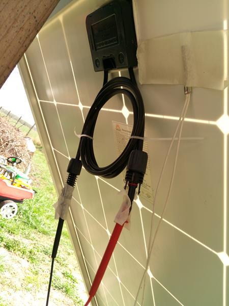 Panel solarny Resun 315W, puszka z kablami