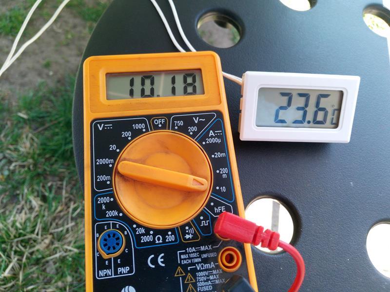 Pomiar prądu zwarciowego (Isc) panela fotowoltaicznego